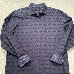 Men's Bugatchi Patterned Long Sleeve Dress Shirt